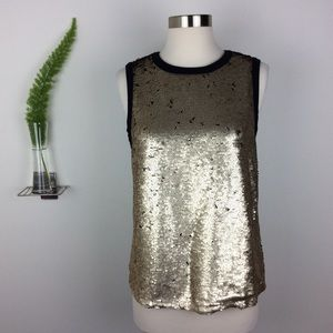 GAP Gold Sequined Stylished Sleeveless Top NWT